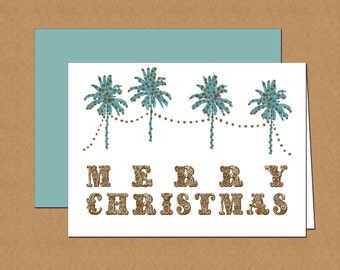 Palm Tree Holiday Cards (set of 12)