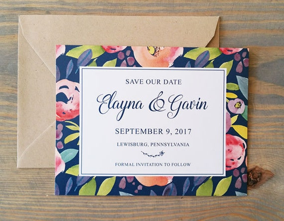 save the date, modern save the date, rustic save the date, watercolor save the date, flower save the date