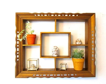 Shadow Box Shelving Unit, Knick Knack and  Decorator Wall Shelf