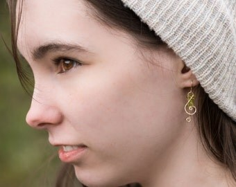 G Clef Earrings in 14kt Gold Filled or Sterling Silver - I Have a Song in My Heart