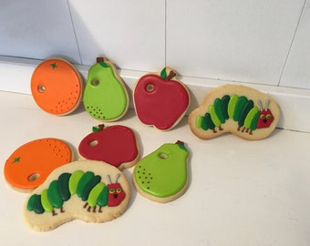 Hungry Caterpillar cookies - 1 dozen