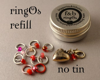 ringOs REFILL - Love Is In The Air LIMITED EDITION - Snag-Free Ring Stitch Markers for Knitting