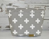 Camera bag by Darby Mack - Grey  purse insert or Tote! Use in your purse, backpack & travel bag made in USA, Cross print