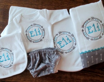 Arrows Baby Boy Gift Set, Baby Boy Gift Set,  Baby Set with Arrows