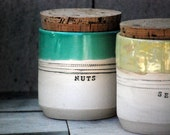 kitchen canisters nuts jar seeds jar handmade ceramic jars unique pottery