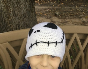 Skull Cap -- Adult size -- pumpkin king