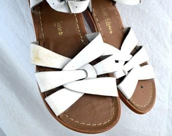 Vintage Surfer Salt Water White Sandals - Size 7
