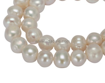 U Pick Authentic Natural Freshwater Cultured Pearl Beads 6-7mm, 8-9mm (1 Strand~38cm) #FP2