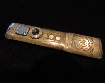 Etched and aged brass flash drive, 16Gb, USB 30