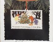 Vintage 1994 Hallmark Keepsake US Christmas Stamps #2 Ornament
