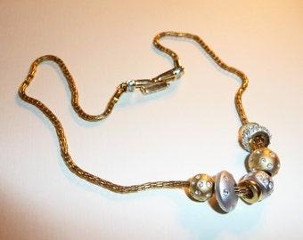 Vintage Swaorvski Beaded Necklace and Earrings on Etsy by APURPLEPALM
