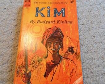 Kim by Rudyard Kipling Classic Adventure Story Dell Books paperback pulp novel 1960 3rd printing boy's life India vintage book New York Pub