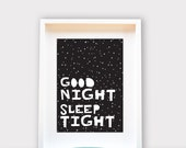 Good Night Sleep Tight / Printable Art, Wall Decor, Instant Download