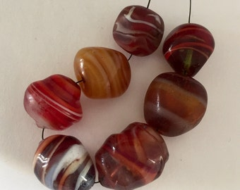 Vintage  Glass Beads - Assorted Shapes and Colors