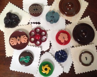 Instant Collection. Unused Vintage European Czech Buttons. Set of 12.