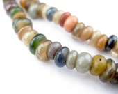 200+ Faded Medley Baby Rondelle Java Glass Beads - Small Glass Donuts - Small Round Discs - Rondelle Spacers - Earth Tones (JVA-DSK-MIX-719)