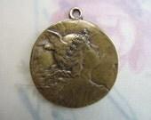 Vintage Inspired Pendant Mercury Mythical Winged Roman God Bronze Pendant Jewelry Supplies SCO23