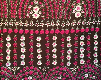 Vintage Fabric Flowers Garden Graphic Border-Style 2.5 yards