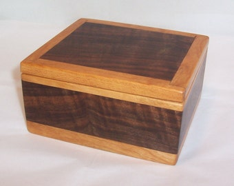 Handcrafted Reclaimed Wood Box Walnut and Cherry