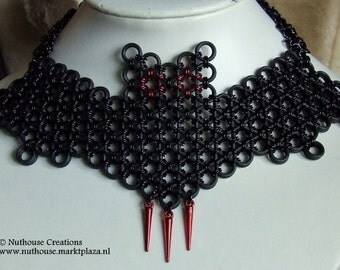 Chainmail Bat Choker Necklace
