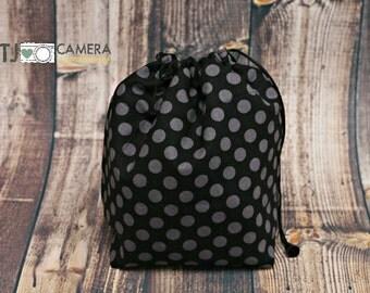 DSLR Camera, Travel COZY, Camera Pouch, Black Grey Dot, Camera Gear