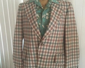 Hep Vintage Guy's Sportsjacket from 1970's with Wild Lining -- Herb from WKRP