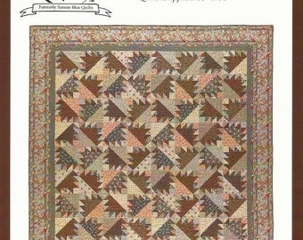 """Quilt Pattern CHARLOTTE 83"""" x 91"""" from Red Crinoline Quilts"""