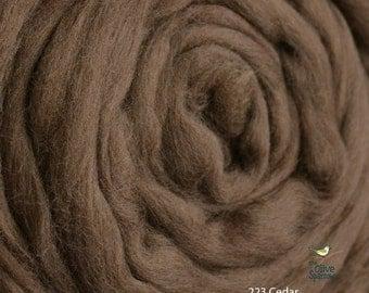 18 Micron Wool Roving - 50 grams (1.75 oz) - 223 Cedar