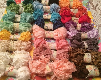 """Crinkled Seam Binding 30 Yards(90 Feet)""""""""You Pick All Your Colors & Yardage"""" 24 Colors To Choose From-"""