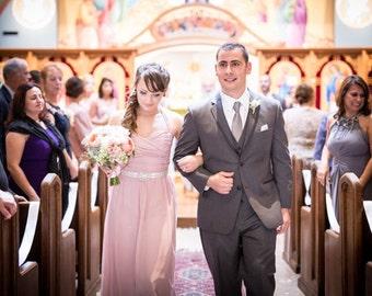 Rhinestone bridal, maid of honor, bridesmaid's sash