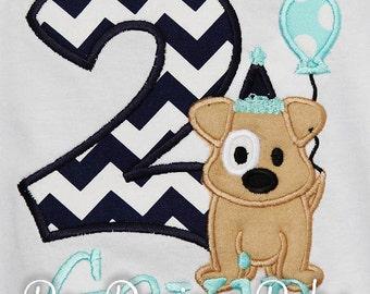 Second Birthday Boy Shirt, 2nd Birthday, Puppy Second Birthday, Boy 2nd Birthday Outfit, Personalized Birthday, Puppy Dog Birthday, Any Age