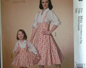 Retro 50s Hi Waist Jumper Skirt and Blouse Rockabilly Dress Look All Sizes S M L XL Plus McCalls 7184