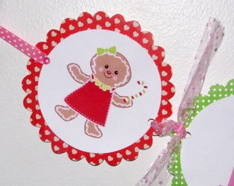 Gingerbread Girl High Chair Banner, Gingerbread Birthday Decorations, Gingerbread Party
