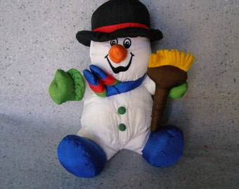 Plush Talking Snowman Stuffed Toy (Working)