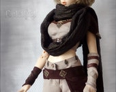 Ooak handmade brown warrior fighter outfit for fairyland feeple65 big sd girls