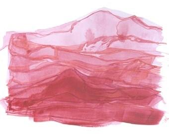 minimalist watercolor print: Sugar Blood