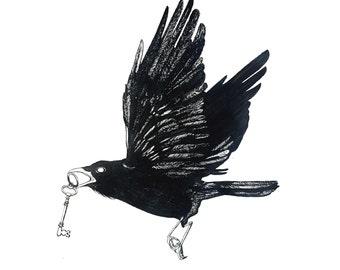 minimalist ink print: Seer