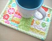 sewing box mug rug - FREE SHIPPING