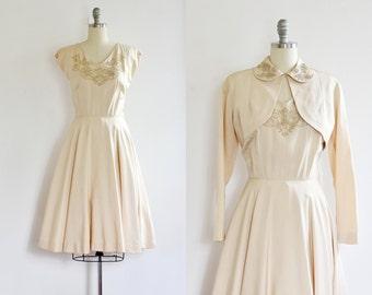 NEW - vintage 1950s Wedding Dress  •  50s Party Dress  • Bride • Princess Dress • Lemon Dress