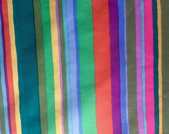Kaffe Fassett Serape, green, OOP, rare, vhtf, striped fabric, by the half yard, early Westminster