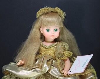 "1561 Collectible Madame Alexander Doll Samantha Gold Vinyl 14"" Doll Madame Alexander Vintage Doll"