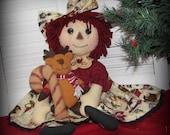 Christmas Raggedy Ann Doll