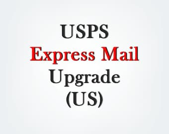 USPS flat rate Express Mail shipping (EMS) upgrade listing for US only, Please make sure your address and items are correct