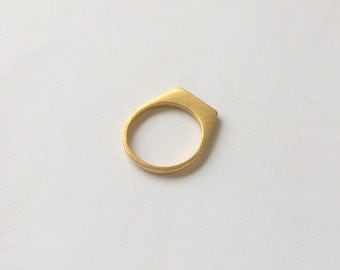 Gold Ledge Ring