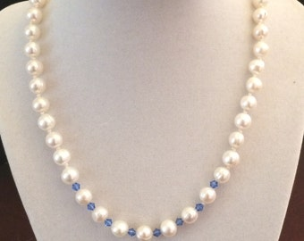 Pearl and Blue crystals