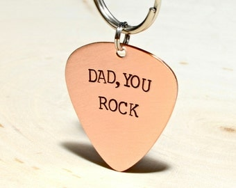 Copper keyring for Dad for a Rocking Fathers Day - KC903
