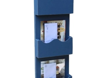 Triple Slot Mail Organizer - Mail Sorter - Mail and Key Holder - Magazine Holder