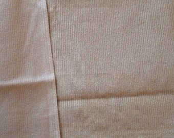 Vintage Cotton Corduroy - Beige- Small Wale- Bargain Fabric - 1 &3/4yards