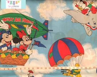 Twin Vintage Mickey Mouse and Dumbo Flat Sheet