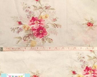Vintage Pink Striped Floral Pillowcase